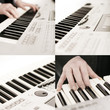 Keyboard spielen - Collage