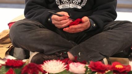 Creare fiori con gli ortaggi