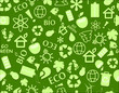 go green eco seamless pattern