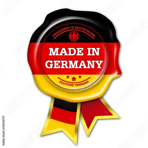 Leinwandbild Motiv siegel button made in germany