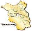 Brandenburg als Übersicht gold antik