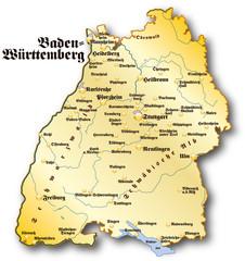Baden Württemberg Übersicht gold antik