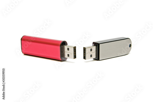 flash drives on a white background.
