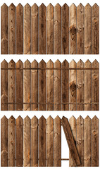 wooden fences set