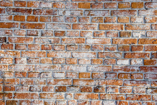old red bricks wall background and texture