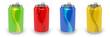 Canettes de soda multicolores sur fond blanc 1 - 30361944