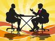 Hombres y mujeres de negocios