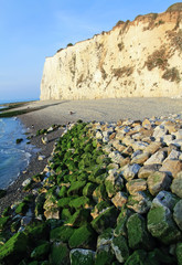 Sea, stones and cliffs in Mers-les-Bains