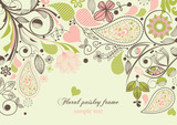 Fototapety Floral paisley frame