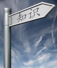 Knowledge Chinese road sign clipping path