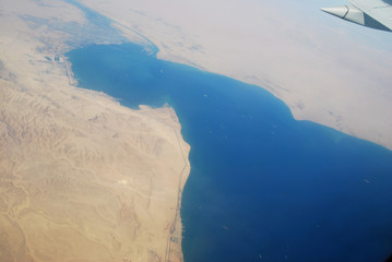 Red sea. A kind is from the height of flight