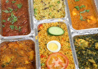 Indian Curry Food Takeaway Selection