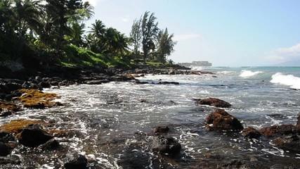 Hawaiian Island Coast on the Pacific Ocean