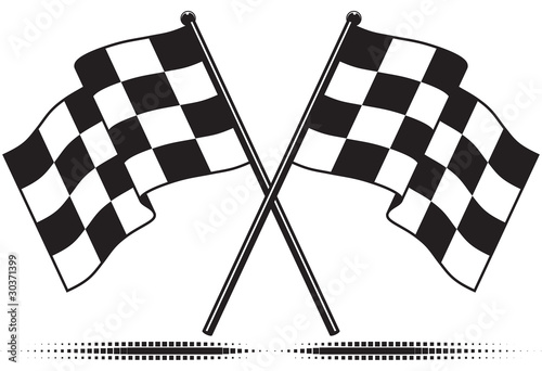 Vector checkered flags - reached the goal. Gradient free. - 30371399
