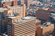 Tall Brick Buildings Helipad Philadelphia PA USA