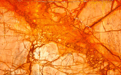 Orange Numidian Sanguine Marble Cracks Full Frame