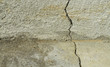 Crack in Concrete Foundation & Floor