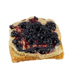 Blueberry Almond Butter Toast