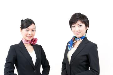 a portrait of two beautiful businesswomen