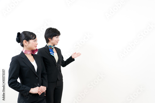 a portrait of two businesswomen