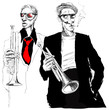 trumpet players