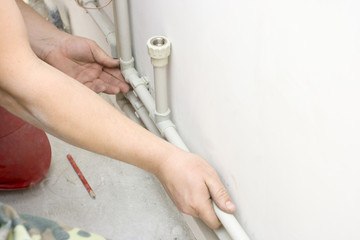 installation clips for attaching a water pipe on the wall