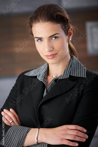 Portrait of attractive female smiling