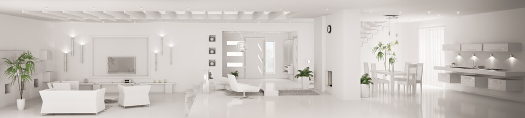 Weiss interior apartment panorama 3d render