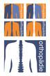 Orthopädie Logo blau weiß orange
