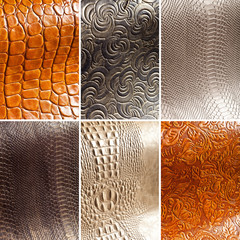 Collage: leather