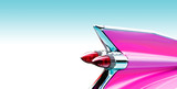 Pink cadillac tail fin