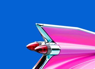 Pink Caddie tail fin