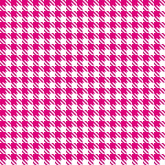 Seamless Hound´s-Tooth Check Pattern Pink
