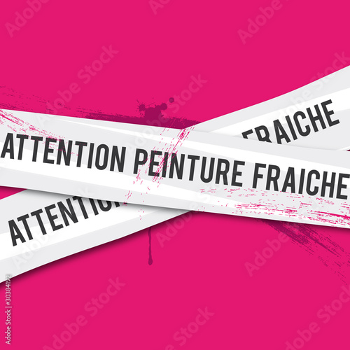 Attention peinture fraiche fichier vectoriel libre de droits sur la banque d 39 images fotolia - Attention peinture fraiche ...