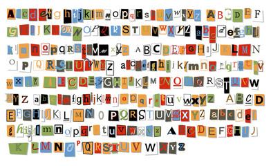 Lettere in ordine alfabetico
