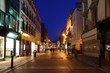 Grafton Street South End, shop windows at night in Dublin