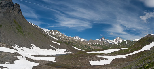 panorama from Pointe Rousse pass, Italy