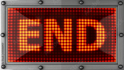 end announcement on the LED display