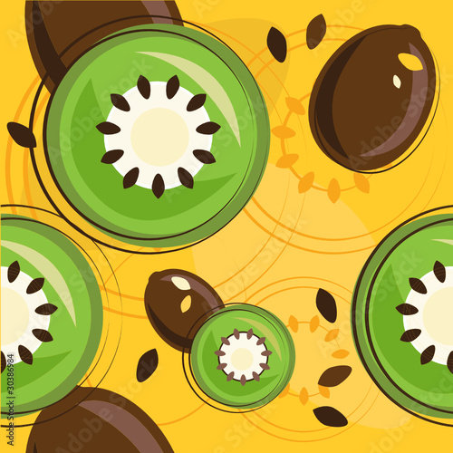 vector pattern of kiwi