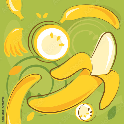 vector pattern of bananas