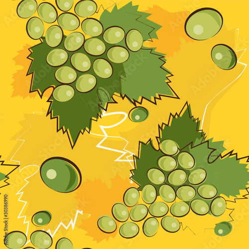 vector pattern of grapes