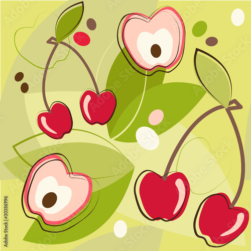 vector pattern of cherry