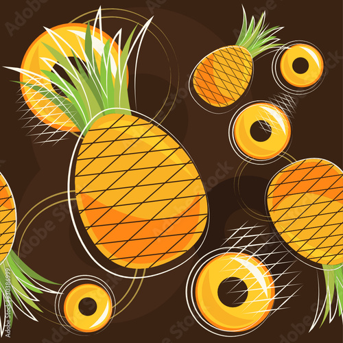 vector pattern of pineapple