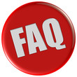 Button rot rund FAQ