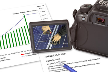 Angebot Photovoltaik-Anlage, Solarstrom