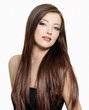 attractive woman with  long gloss hair
