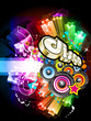 Abstract Rainbow Disco Flyer Background