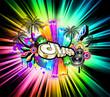 High Tech Music Disco Background