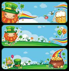 St Patrick's Day celebration banners