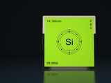 Silicon chemical element of the periodic table with symbol Si poster